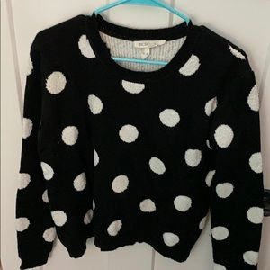 BCBG thick black and white sweater M/L